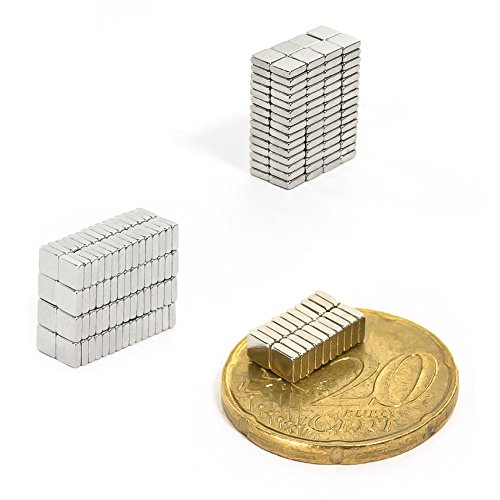 Oblique Unique 20 Mini Magnete, ultrastark - 3x3x1mm - NEODYM - Das Original