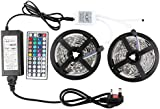 WenTop RGB Led Strip Kit,Non-Waterproof Led strip lights 32.8 Ft(10m) ,5050 RGB 300 leds(30 leds/m) 44 Key IR Remote Control and Power Supply for Garden,Home,kitchen,Garage
