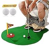 Atimier Mini-Golf para Baño,1 Juego de 6 Piezas,para Inodoro Golf Funny Potty Putter para Inodoro Tiempo Baño Mini Golf Juguete de Regalo Juego