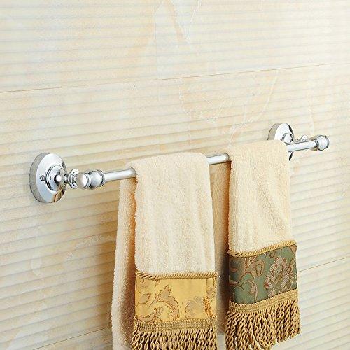 FUFU Barres de Serviette Argent All-cuivre serviette barre (simple Rod) Toilettes étagères Serviette Rails de style européen salle de bains Quincaillerie ( taille : 50 cm )