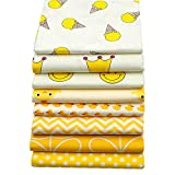 8 Stück gelbe Serie 40 cm x 50 cm Top Baumwolle Stoff für