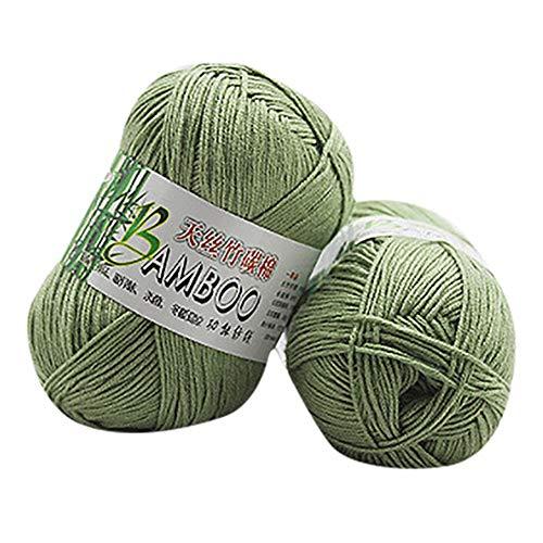 Mesh-wolle-garn (YOUTHLIKEWATER Bambus Baumwolle Garn Warme Weiche Natürliche Stricken Häkeln Mesh Garn Wolle Haus Frauen Handgemachtes Strickgarn * 741,1)