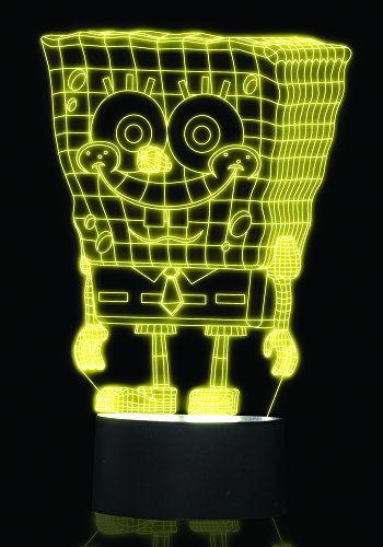 Image of Nickleodeon Spongebob 3D Effect Mood Light,  Multi-Colour
