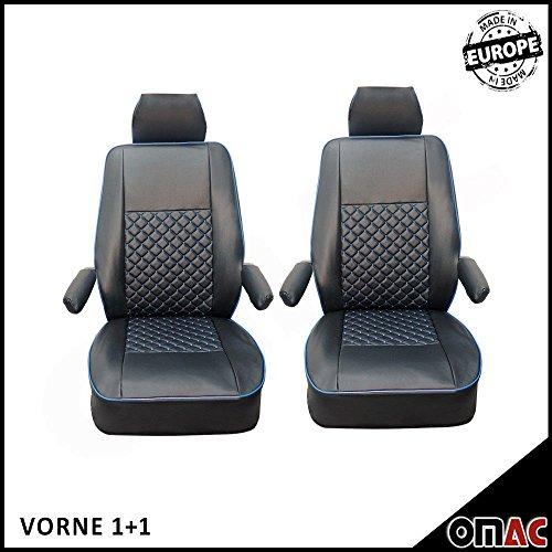 VW Multivan T5T6Caravelle in Eco Pelle Finta Coprisedili nero blu 1+ 1