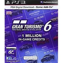 PSN Digital Download Card - 1 Million Gran Turismo 6 In Game Credits