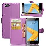 Custodia HTC One A9s, Scheam Libro Flip Cover Custodia a Portafoglio Premium Custodia in PU Pelle [Kickstand Feature] [Supporto per Slot per Schede] Custodia Protettiva per HTC One A9s Purple