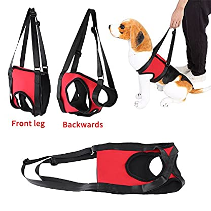 Dog Lift Harness Front Rear Dog Support Harness Walking Aid Lifting Pulling Vest for Old Injured Dogs 5
