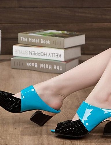 WSS 2016 Chaussures Femme-Soirée & Evénement-Noir / Bleu / Beige / Orange-Gros Talon-Bout Ouvert-Talons-Polyester orange-us5.5 / eu36 / uk3.5 / cn35