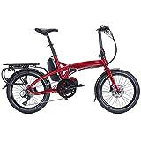 Tern Vektron P9 Elektro Klapp Fahrrad 20 Zoll Rot Shimano 9 Gang E-Bike Elektrisch 250 Watt Motor, CB18EGPC09HLRRR23