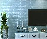 3D Dimensional Backstein Muster Non-Woven-Stoffe Selbstklebende Wandaufkleber Umweltschutz Schlafzimmer Wohnzimmer TV Hintergrund Alte Mauer Renovierung Tapeten 5 * 0,53m , blue 5 m *0.53 m