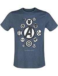 The Avengers Avengers Infinity War - Logos T-Shirt Mottled Blue