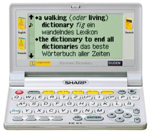 Sharp PW-E420 - Handheld: Elektronisches Wörterbuch mit drei Wörterbüchern, Englisch-Deutsch/Deutsch-Englisch, Französisch-Deutsch/Deutsch-Französisch (Handhelds von Sharp)