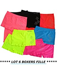 *** PROMOTION *** Lot 6 boxers fille - Taille 4 / 6 ans