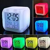 Funwill sveglia digitale 7LED cambia colore con temperatura, funzione Sleep e sveglia