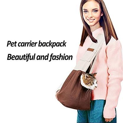 Pet Carrier Backpack Comfort Breathable Travel Tote Shoulder 100% Cotton Sling Bag with Pouch Adjustable Strap For Dog… 5