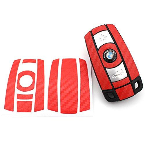 De carbone rouge motif clés bMW e60 e61 e90/e91/e92/x5 e70 x6 e71 e81 e82 e87 e88-z4 e89 x1 e84 pack m