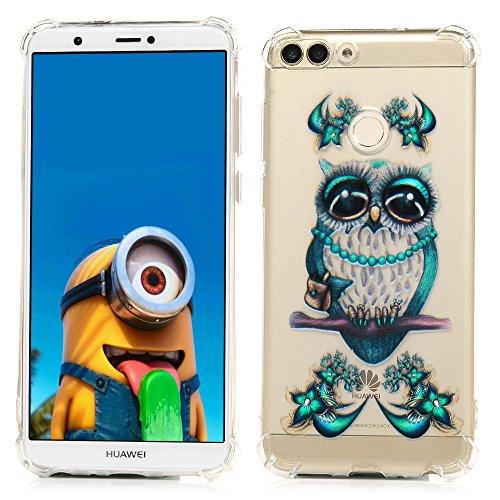 Huawei P Smart Case, Crystal Clear Ultra Dünn Slim TPU Handy Schutzhülle Transparent, Stoßdämpfung Weich Haut Ärmel, Schutz Flexible Gummi Gel/Silikon Shell Kratzfest Schmetterling