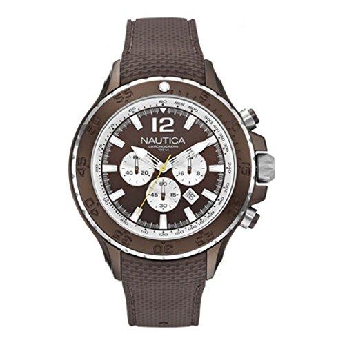 nautica-a22623g-montre-homme-quartz-chronographe-bracelet-silicone-marron
