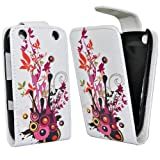 Accessory Master Etui en cuir pour Blackberry curve 9320 Multi colour Fleur