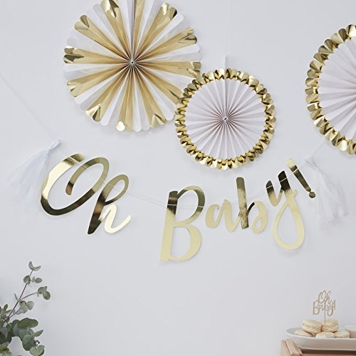 (GOLD FOILED OH BABY! BUNTING - OH BABY!)