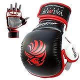 Valour Strike Pro Sparring MMA Gloves ★ Black Grappling Muay Thai Training Mitts