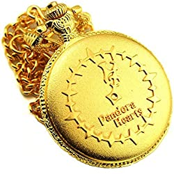 Sunkee Pandora Hearts Cosplay Golden Pocket Watch