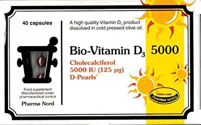 Pharma Nord 125µ Bio-Vitamin D3 D-Pearls 40 Tablets by Pharma Nord