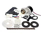 L-faster 24V36V250W Electric Conversion Kit for Common Bike Left Chain Drive Customized for Electric Geared Bicycle Derailleur(Thumb Kit)