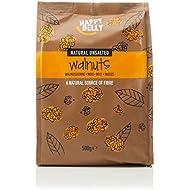 Amazon Brand - Happy Belly Light Halves Walnuts, 500 g