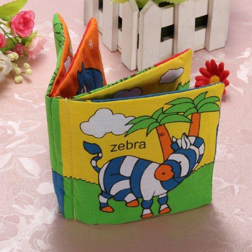Livre tissu bébé enfant intelligence cognitive éducation mot anglais peinture jouet Animaux forê