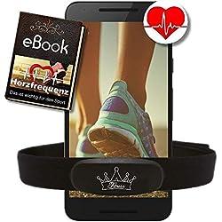Heartbeat Herzfrequenz-Sensor, Bluetooth ANT+, EKG genau - kompatibel zu Polar RUNTASTIC Wahoo Garmin STRAVA ENDOMONDO Puls Brustgurt HRM
