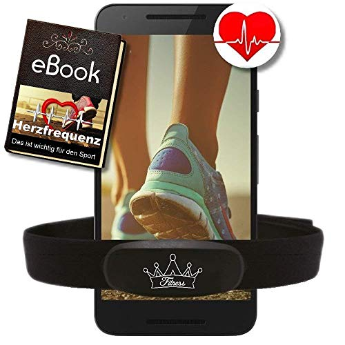 BerryKing© Heartbeat Dual Herzfrequenz Ant+ Bluetooth Low Energy Echtzeit + Gratis Ebook - kompatibel zu Garmin Wahoo Polar RUNTASTIC Strava ENDOMONDO Tomtom iPhone Brustgurt