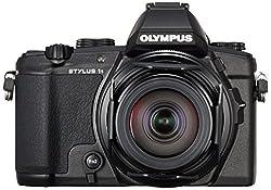 Olympus Stylus 1s Digitalkamera (12 Megapixel, 10,7x optischer Zoom, 7,6 cm (3 Zoll) Touch-Display, elektronischer Sucher, 5-Stufen Bildstabilisator, RAW) Kit inkl. 28-300 mm F2.8 Objektiv schwarz