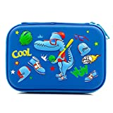 Cool Football scuola ragazzi Hardtop Pencil Case Big Pencil box con vano per bambini Royal Blue Baseball Dinosaur
