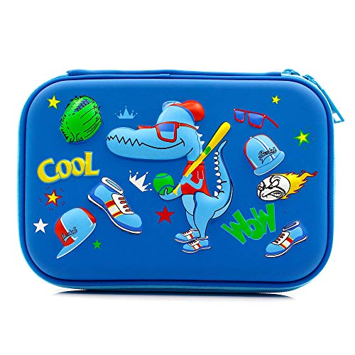 Cool football scuola ragazzi hardtop pencil case big pencil box con vano per bambini royal blue baseball dinosaur