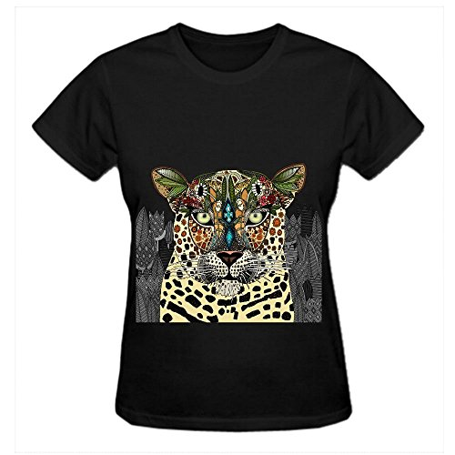 leopard-queen-yht-cool-t-shirts-for-women-crew-neck-x-large