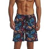 Balcony&Falcon Costume da Bagno Uomo, Short da Bagno Uomo Pantalocini Boxer da Bagno Calzoncini Uomo Pantaloncini da Spiaggia Pantaloncini Estivi da Uomo Costumi Shorts da Mare