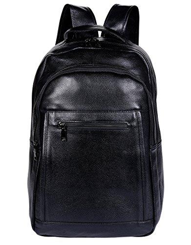 Leder Laptop Rucksack/Handtasche für Männer & Frauen,ANNA QUEEN -