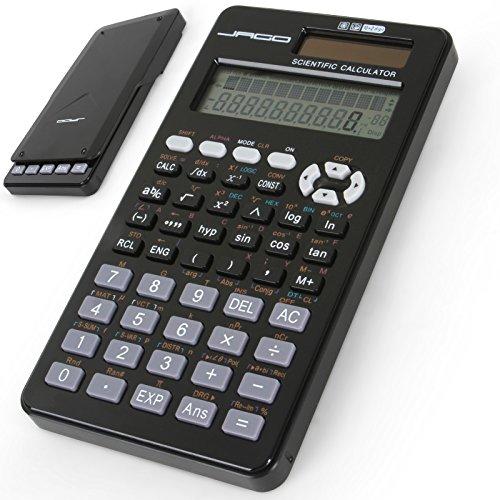 Jago Wissenschaftlicher Solar-Taschenrechner Tischrechner Solarzelle Bürorechner Rechner für komplexe mathematische Operationen mit LCD-Display