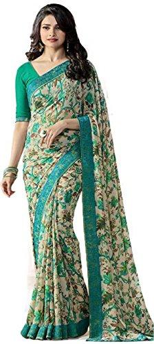 Hinayat Fashion Green Chiffon Saree - 531