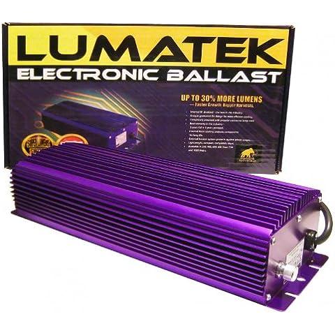 LUMATEK Accenditore cebador MH-Cargador de balastro electrónico 1000 W, intensidad regulable HPS----- (W-750 W-1000 600 lúmenes) SUPER W-1000 W