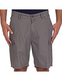 Short Cargo Coton Demi Elastique Marfac Gris Fonce - Oxbow