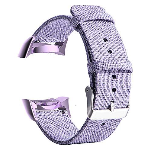 TianranRT Gewebt Stoff Uhr Band für Samsung Gear S2 SM-R720/SM-R730 mit Adapter (Lila)