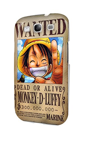 S30554 One Piece Wanted Monkey D Luffy Glossy - Cover Custodia Case Cover for Samsung Galaxy S3