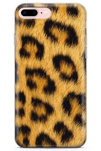 Case Chimp iPhone 7 Plus / 8 Plus Salvaje Impresión del Guepardo Funda de Teléfono de Goma Cover Huella Animal Nederdel Leopardo Cazador Envolver Gato
