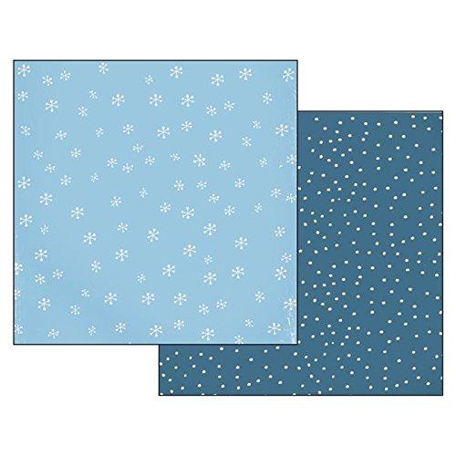 Carta per Scrapbooking Piccoli fiocchi di neve - Stamperia SBB235