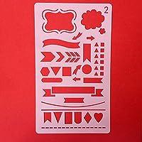 Modelos de dibujo de plástico Universidad Artesanal Manualidades apto para Planner/Notebook/Diario/Scrapbook m 2