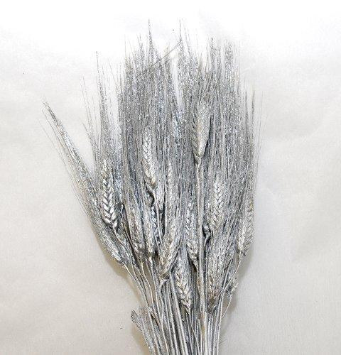 Spighe di grano baffo triticum glitterato (argento)