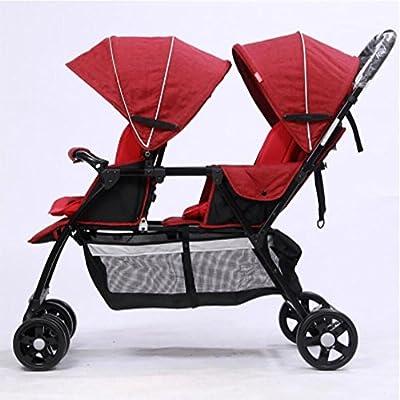 Cochecito de bebé de los gemelos /Carritos y sillas de paseo Carritos Siéntate o Acuéstate viaje tandem Sistemas de viaje