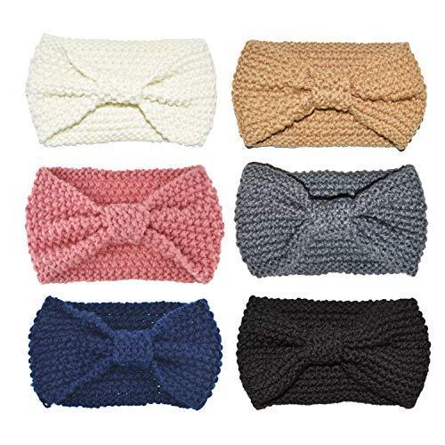 DRESHOW 6 Piezas Crochet Arco Turbante Knit